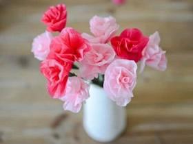 如何做皱纹纸花的教程 最简单皱纹纸花的做法