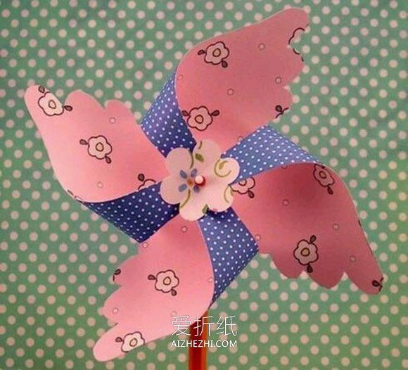 丝网花郁金香教程_怎么做风车的图解教程 手工制作纸风车的方法_爱折纸网