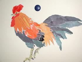 怎么撕纸制作大公鸡 纸贴画大公鸡手工制作