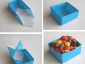 怎么折纸方形纸盒子 手工折纸方形盒子图解
