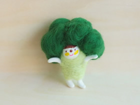 怎么用羊毛毡手工制作蔬菜小人的作品图片
