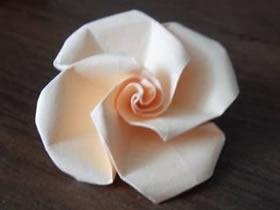 怎么简单折纸玫瑰花 手工折纸简易玫瑰花图解