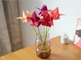 怎么折纸百合花图解 手工折纸百合花的折法