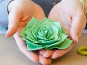 怎么做不织布玫瑰花 布艺手工制作玫瑰花图解