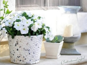 怎么把铁桶做成花盆 铁桶手工制作花盆图解