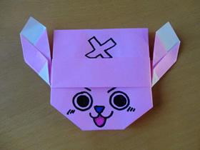 怎么折纸乔巴的方法 海贼王乔巴的折法图解