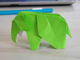 怎么折纸大象带CP图 复杂手工折纸大象图解