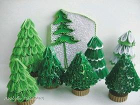 怎么做衍纸圣诞树图解 简单衍纸制作圣诞树