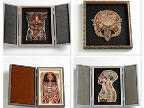 怎么做衍纸人体解剖图 手工衍纸人体解剖标本