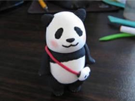 怎么做粘土大熊猫图解 超轻粘土卡通大熊猫