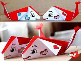 怎么简单折纸鲸鱼图解 儿童手工折鲸鱼的折法