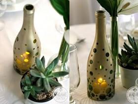 怎么做玻璃烛台灯罩 啤酒瓶废物利用做烛台