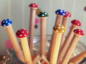 怎么做可爱蘑菇铅笔 可爱铅笔手工改造方法