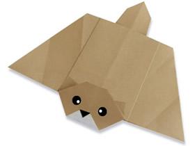 怎么折纸飞鼠的方法 简单手工折纸飞鼠图解