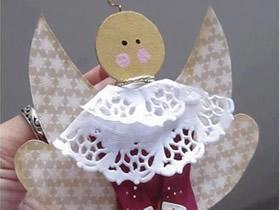 怎么做天使小挂饰图解 冰棍棒手工制作天使挂饰