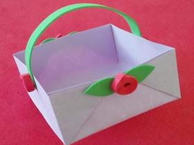 怎么折纸篮子简易方法 儿童手工制作篮子图解