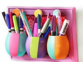 怎么做创意笔筒的方法 塑料瓶制作个性笔筒
