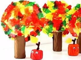 幼儿园怎么做苹果树 简单苹果和大树手工制作
