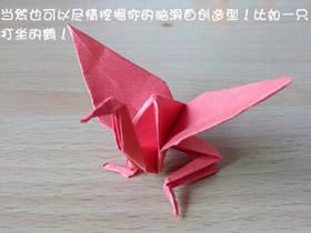 怎么折纸猥琐千纸鹤 搞笑千纸鹤的折法图解