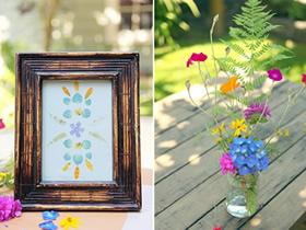 怎么用鲜花做装饰画 简易装饰画手工制作