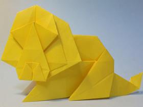 怎么折纸立体狮子图解 手工折纸狮子详细步骤