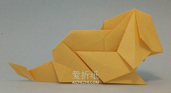 怎么折纸立体狮子图解 手工折纸狮子详细步骤- www.aizhezhi.com
