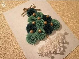怎么衍纸做圣诞贺卡 衍纸手工制作圣诞树贺卡