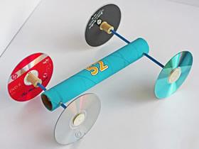 怎么做皮筋动力小车 皮筋动力车手工制作教程
