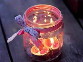 怎么做情人节玻璃烛台 玻璃瓶手工DIY浪漫烛台