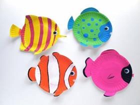 怎么做餐盘小鱼的方法 幼儿餐盘手工制作小鱼