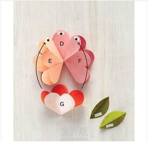 布娃娃花束怎么做_怎么做花朵贺卡的方法 立体花朵贺卡手工制作_爱折纸网