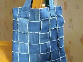 怎么用牛仔裤做手提袋 旧牛仔裤手工制作布袋