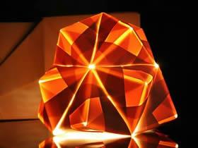 创意折纸作品:折纸做出立体灯具和家居装饰