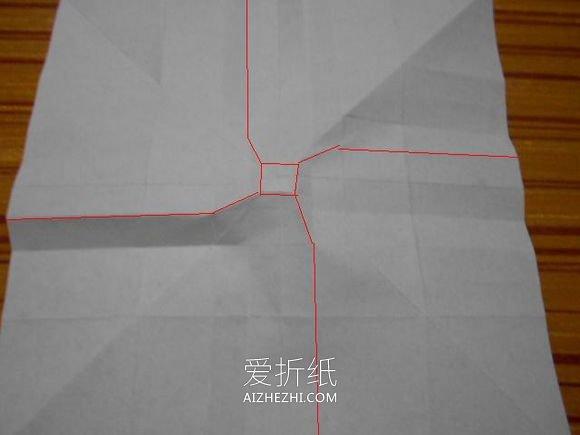 怎么折玫瑰千纸鹤图解 玫瑰花千纸鹤的折法- www.aizhezhi.com