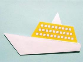 幼儿怎么折纸小船图解 简单小船的折法教程