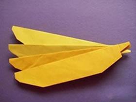 怎么折纸香蕉简单图解 幼儿手工折纸香蕉方法