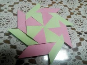 怎么折纸八角飞镖图解 手工八角飞镖的折法