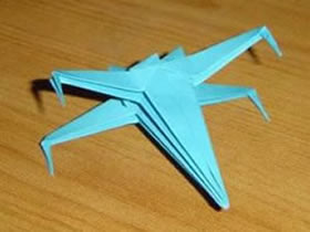 怎么折纸X翼战斗机 X翼星际战斗机的折法图解