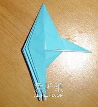 怎么折纸X翼战斗机 X翼星际战斗机的折法图解- www.aizhezhi.com