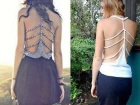 旧背心改造露背装图解 自制露背装的简单方法