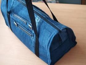 怎么用牛仔裤做行李包 牛仔布行李包手工制作