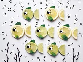 怎么做食物拼画图片 漂亮手工食物拼画作品