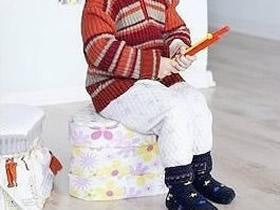 怎么废物利用做儿童椅 奶粉罐手工制作儿童椅