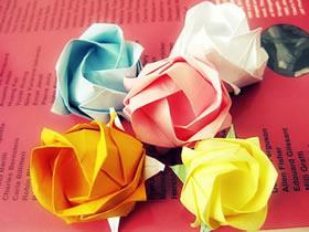 如何折纸立体玫瑰花 经典玫瑰花的手工折法