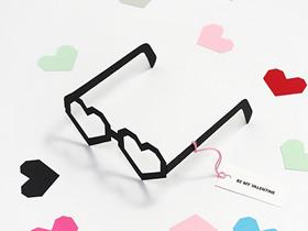 怎么做爱心派对眼镜 卡纸手工制作派对眼镜