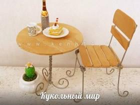 怎么用冰棍棒和铁丝手工制作圆桌和椅子模型