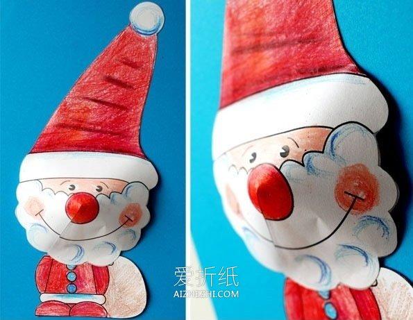 用卡纸做手工食物_怎么剪纸做圣诞老人 圣诞节手工剪纸制作_爱折纸网