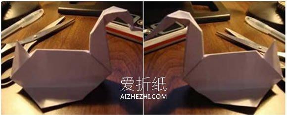怎么折纸立体鸭子图解 简单鸭子的折法步骤- www.aizhezhi.com