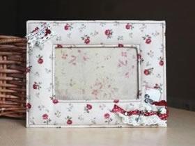 怎么做布艺相框的方法 手工布艺制作漂亮相框