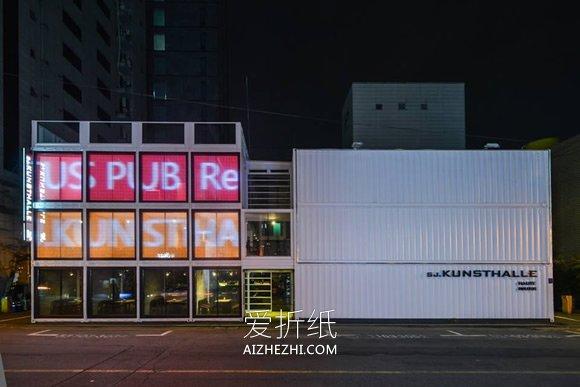 怎么做集装箱房图片 时尚的集装箱商场设计- www.aizhezhi.com